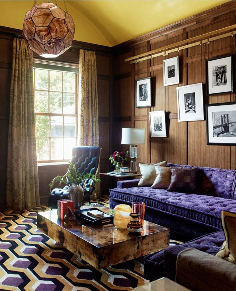 purple-sofa-and-geometric-rug