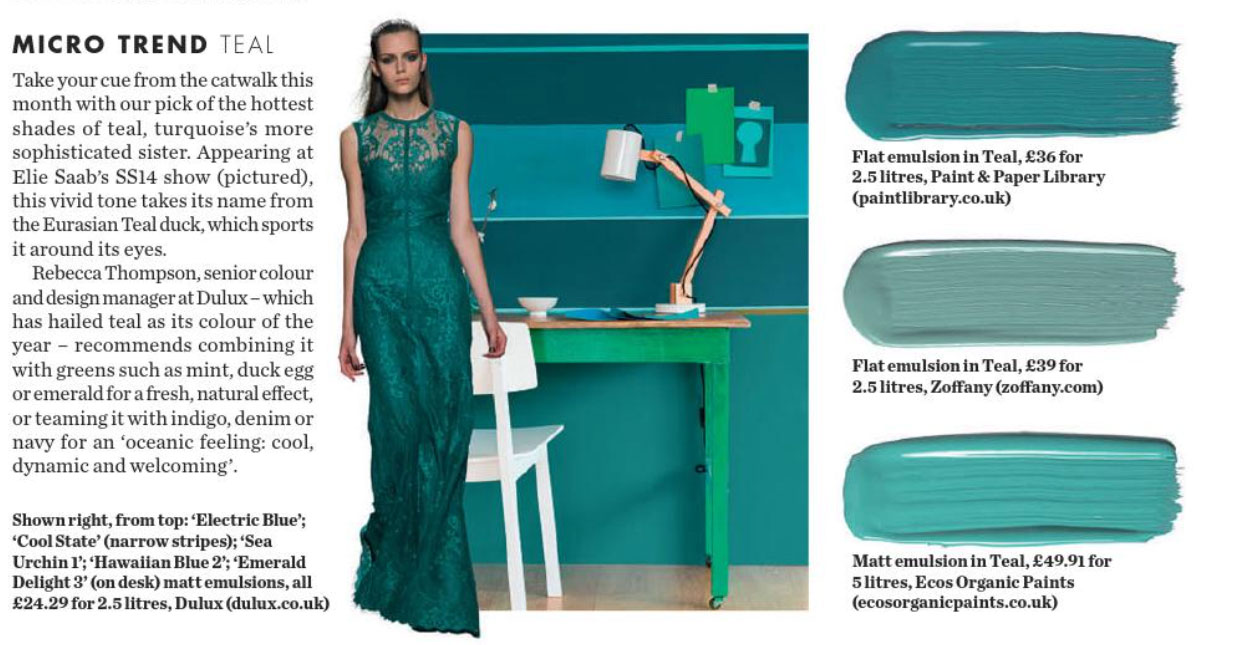 Micro Trend Teal Interiors By Color