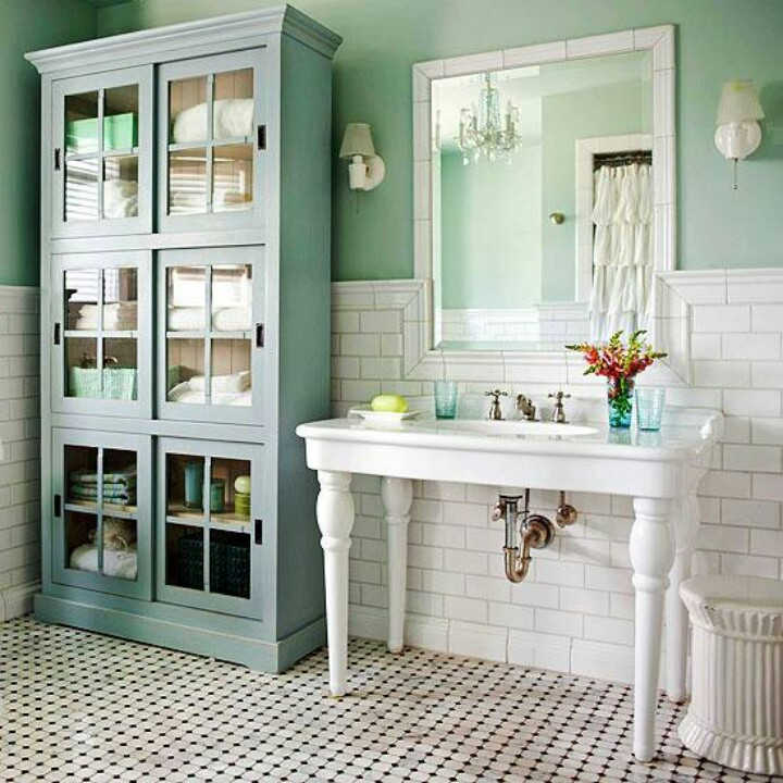 Bathroom Art Minted: Mint Colored Bathroom