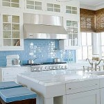 Bright Coastal Kitchen in Blue and White