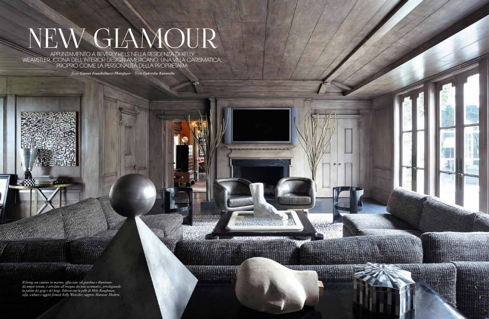 kelly wearstler in marie claire maison spring 2014 interiors by color. Black Bedroom Furniture Sets. Home Design Ideas