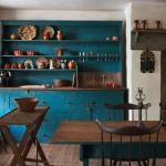 Rustic Vintage Teal Blue Kitchen