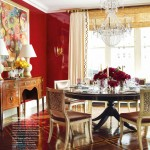 Reflective Red Dining