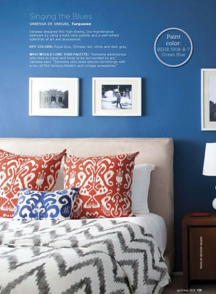 Chinese Red And Blue Bedroom Interiors By Color
