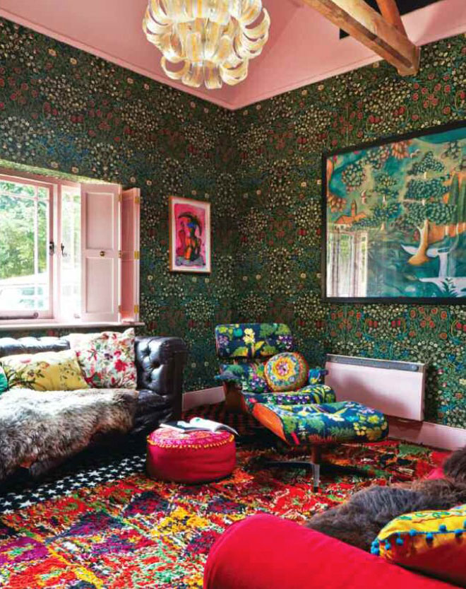 Floral Eccentric Interiors By Color