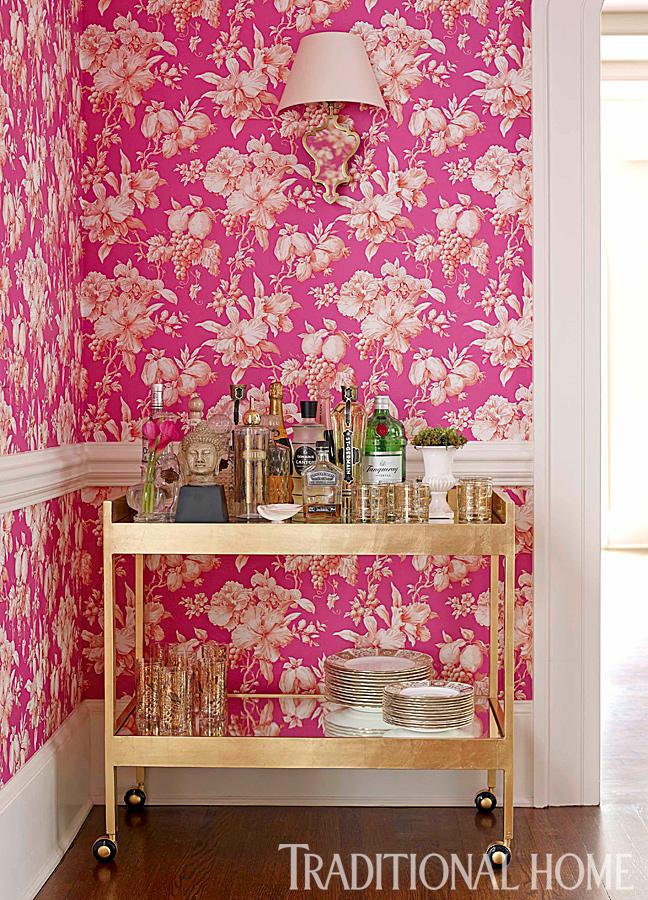 floral pink wallpaper
