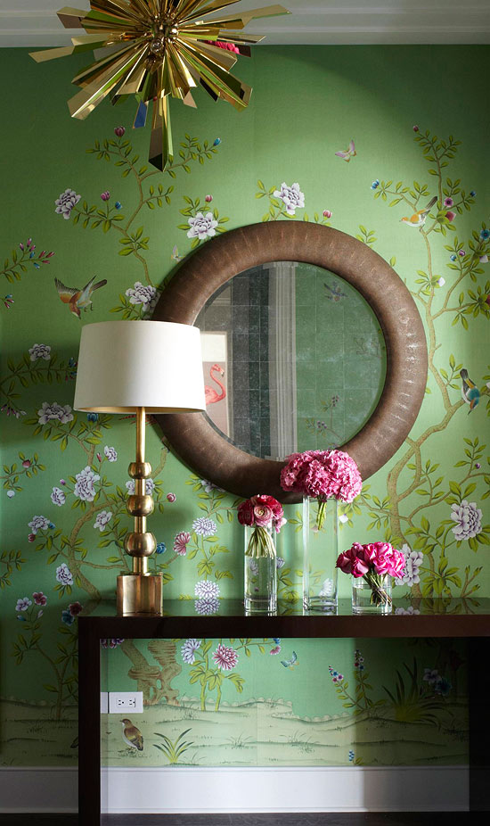 Foyer Green Chinoiserie Interiors By Color