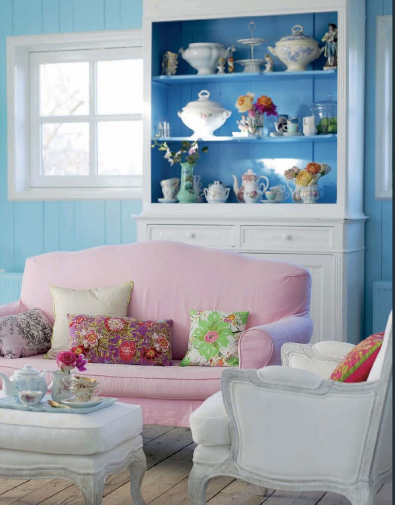 Pink And Blue Pastel Shabby Chic