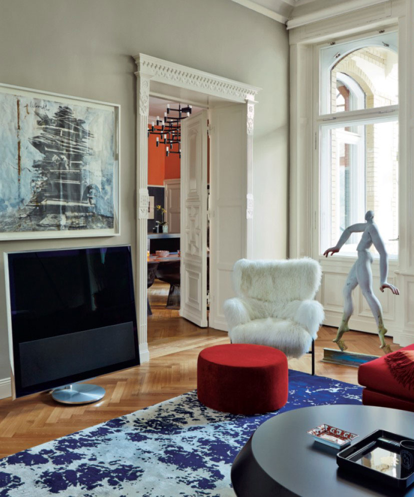 Red And Blue Living Room Contemporary Red And Blue Living Space Interiors By Color