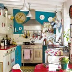 Red and Blue Retro Kitchen