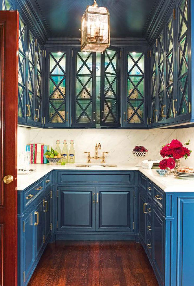 Teal Blue Butler S Pantry Interiors By Color