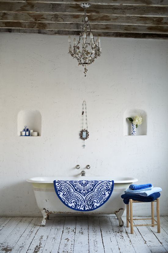 White Rustic Bathroom white and blue rustic bathroom - interiorscolor