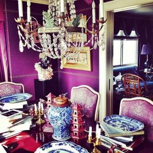 Purple Opulent Dining