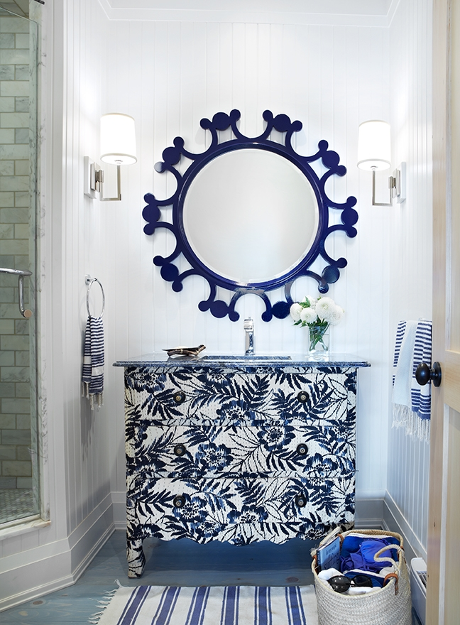Eclectic Blue And White Bathroom Interiors By Color