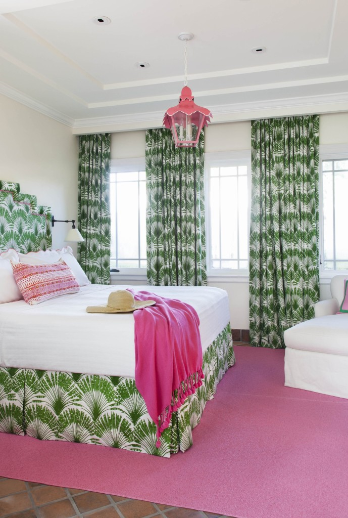 Bold Green and Pink  Bedroom 1