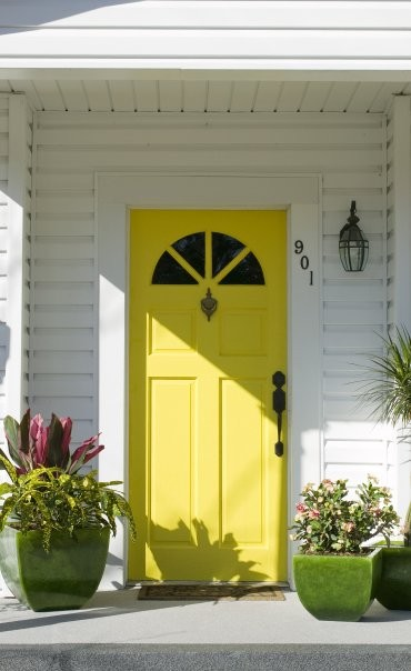 Eclectic-Entry & A Yellow Door - Interiors By Color