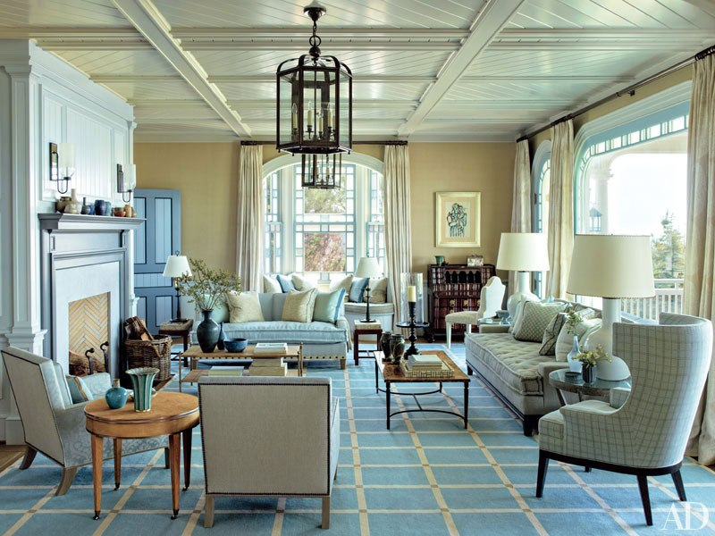 Long Island Beach House living room