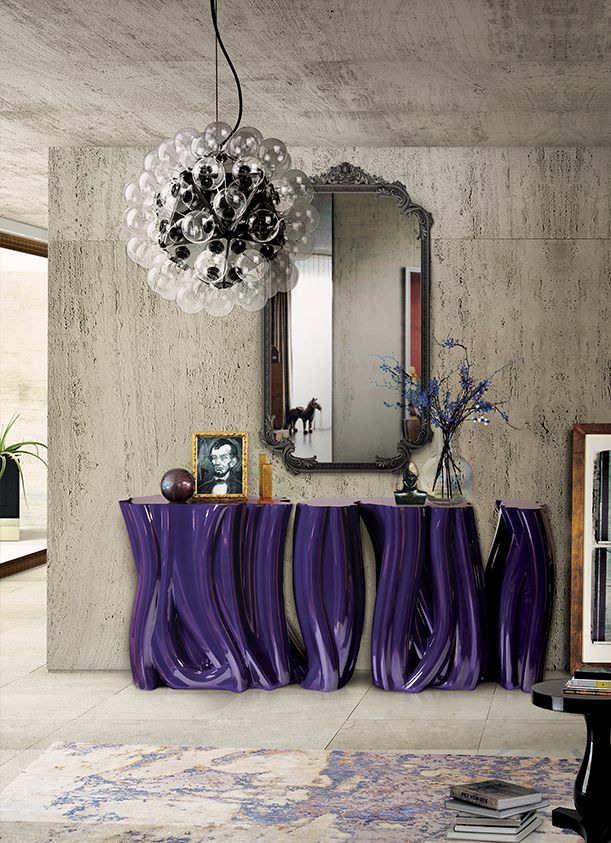 Undulating Purple Monochrome Console