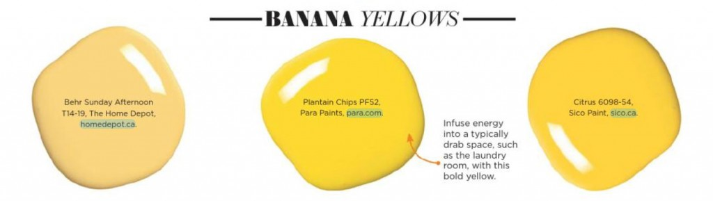 Banana Yellow Paint Palette