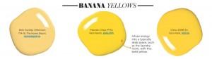 Paint Palette - Banana Yellows