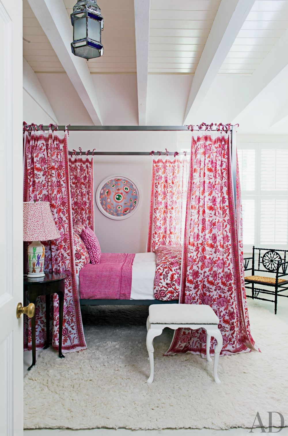 Beach Bedroom In Pink Interiors By Color