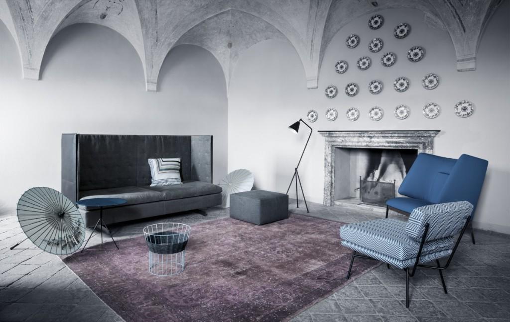 black white blue rustic warehouse style