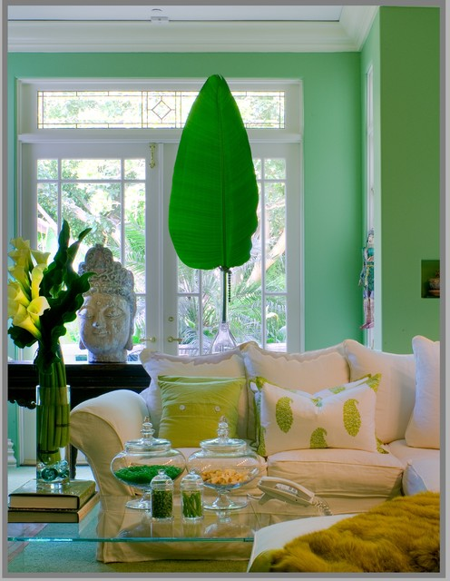 Green Leaf And Chartreuse Interiors By Color