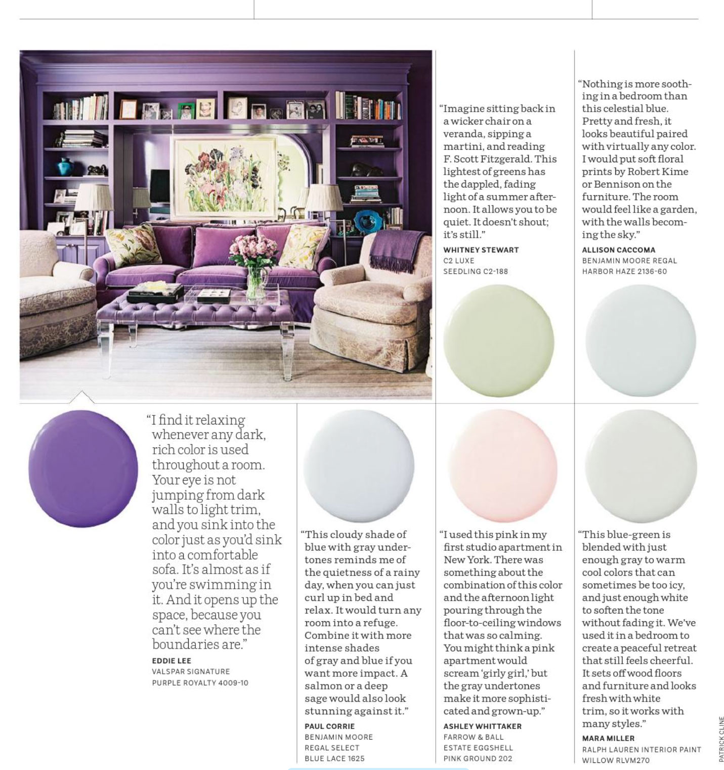 Color Relaxing Purple Royalty And Pastels Interiors By