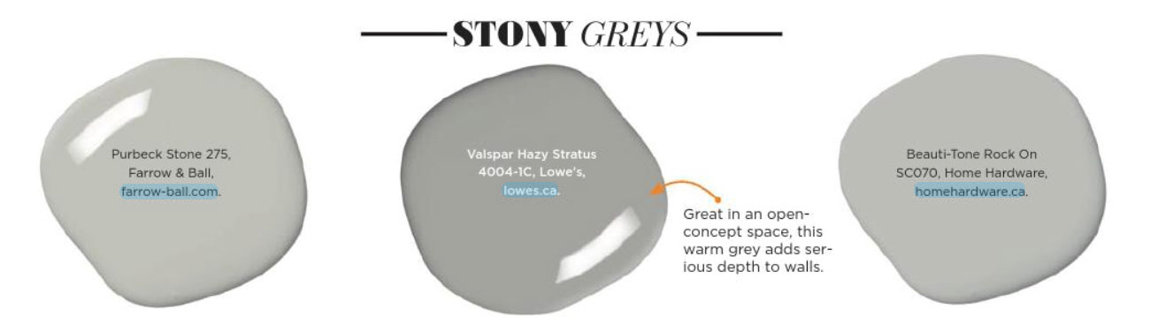 Paint Palette Stony Grey Interiors By Color