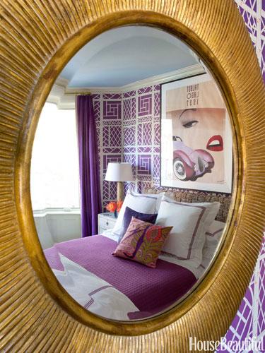 teenage girl purple bedroom