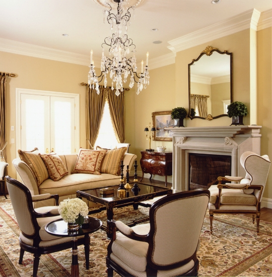 Traditional home in neutrals interiors by color for Classic house interior design