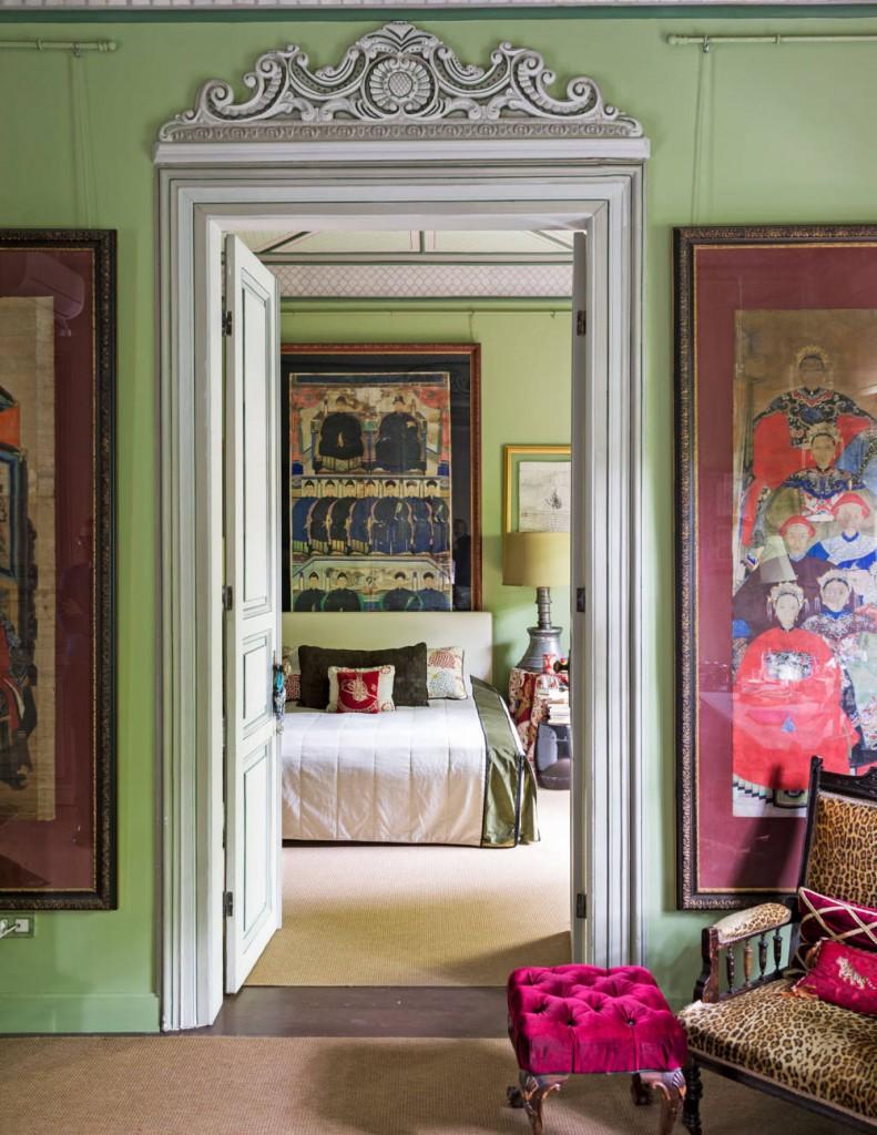 turkish bedroom pink green
