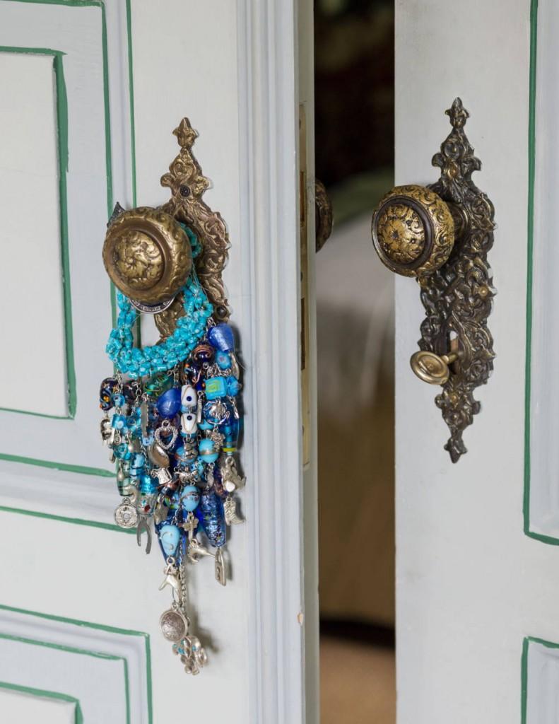 talismans on door handles