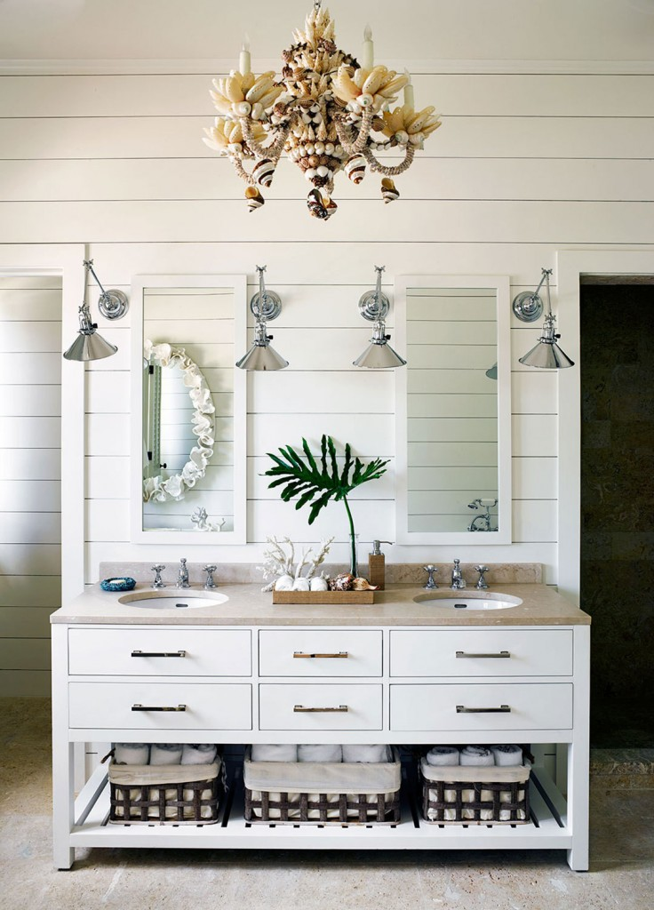 Beach Bathroom in White