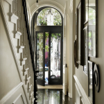 Brownstone Entry in Black and White