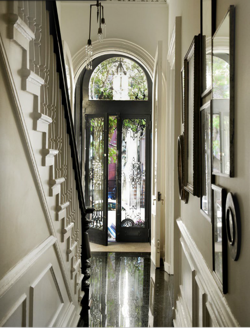 Brownstone Entry In Black And White Interiors By Color