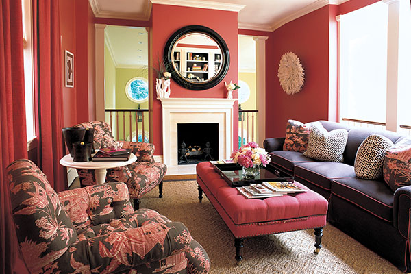 Pink living rooms interiors by color 2 interior for Black and pink living room designs