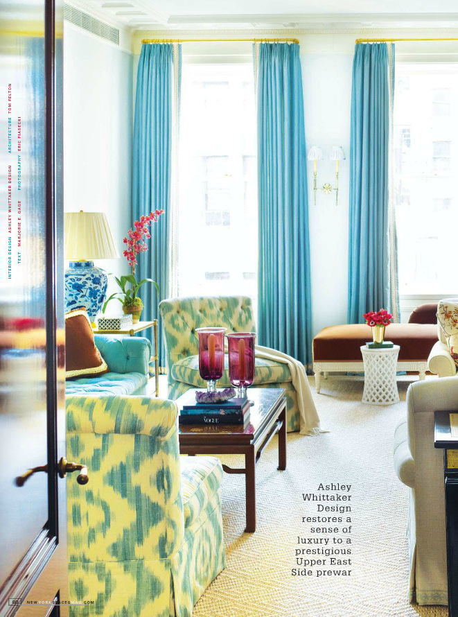Ashley Wittaker Living Room in Blue and Yellow