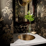 Black and Copper Bathroom