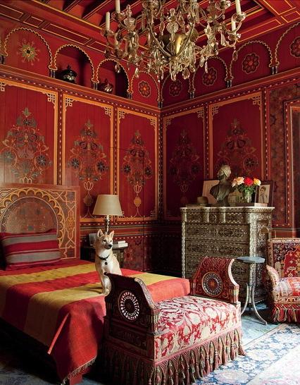 Bill Willis red bedroom