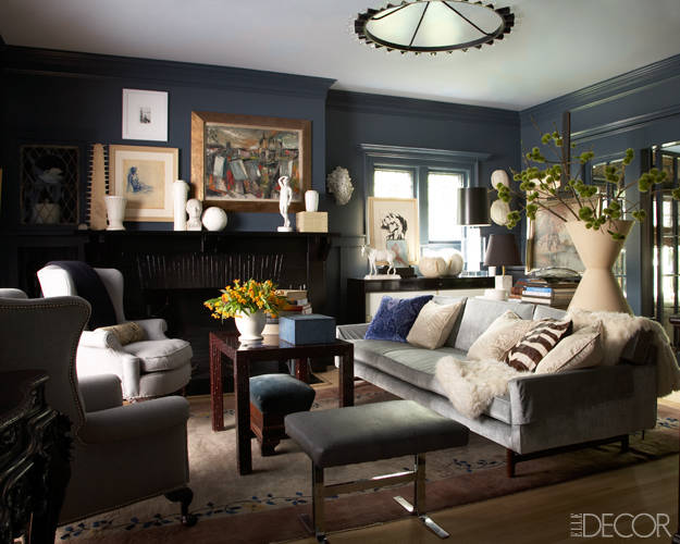 Blue Note Benjamin Moore living room