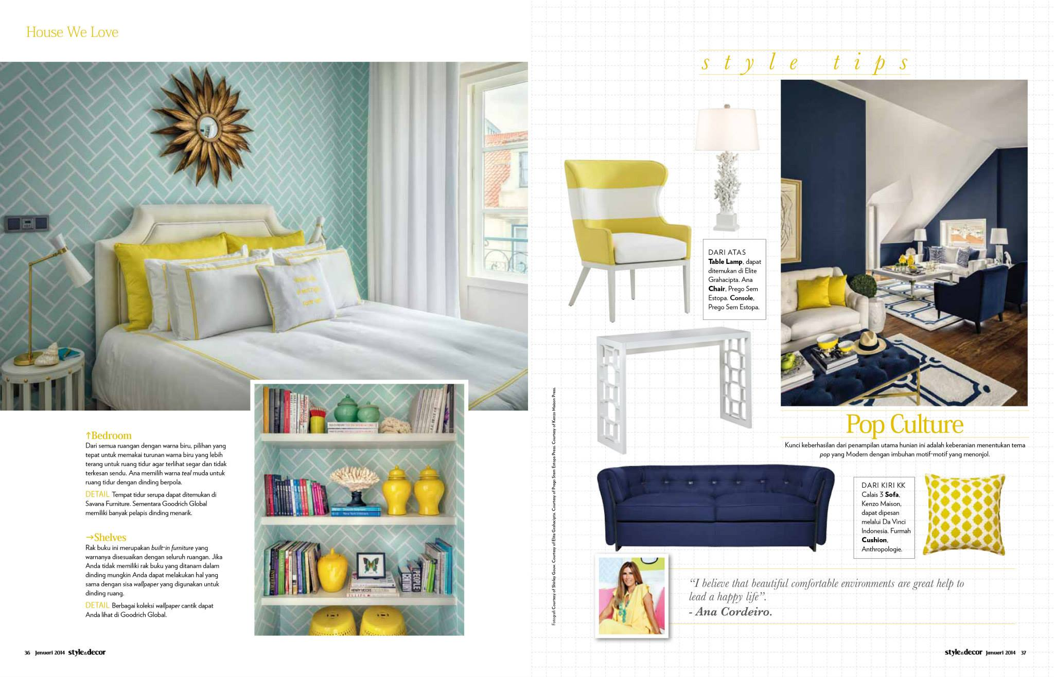 Colour of Lisbon for Style Decor Indonesia January 2014