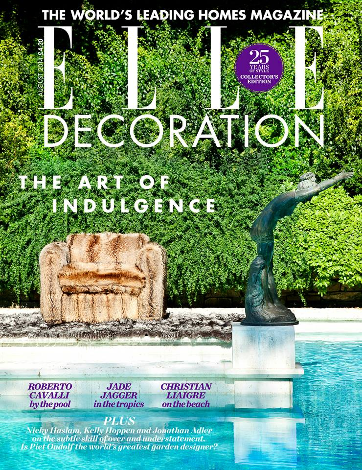 ELLE Decoration UK August 2014 Cover