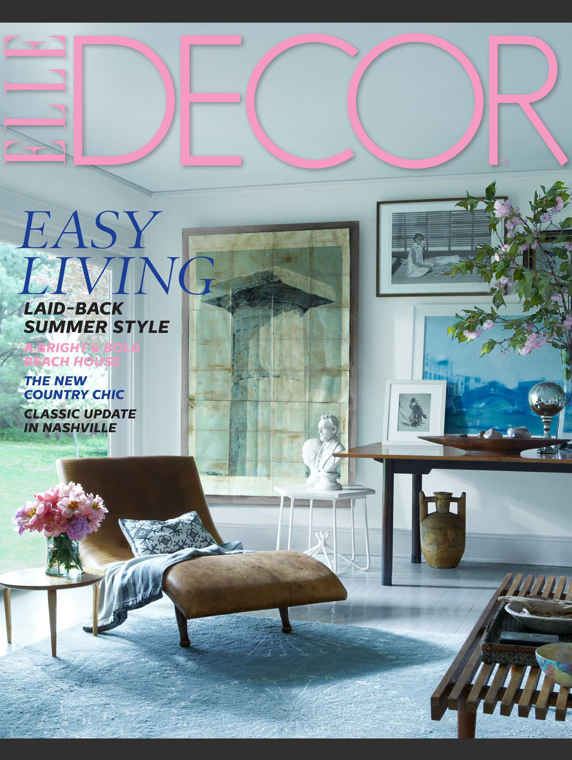 Elle Decor July August 2014 Cover And Story Interiors By