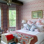 Provence Style Bedroom in Red