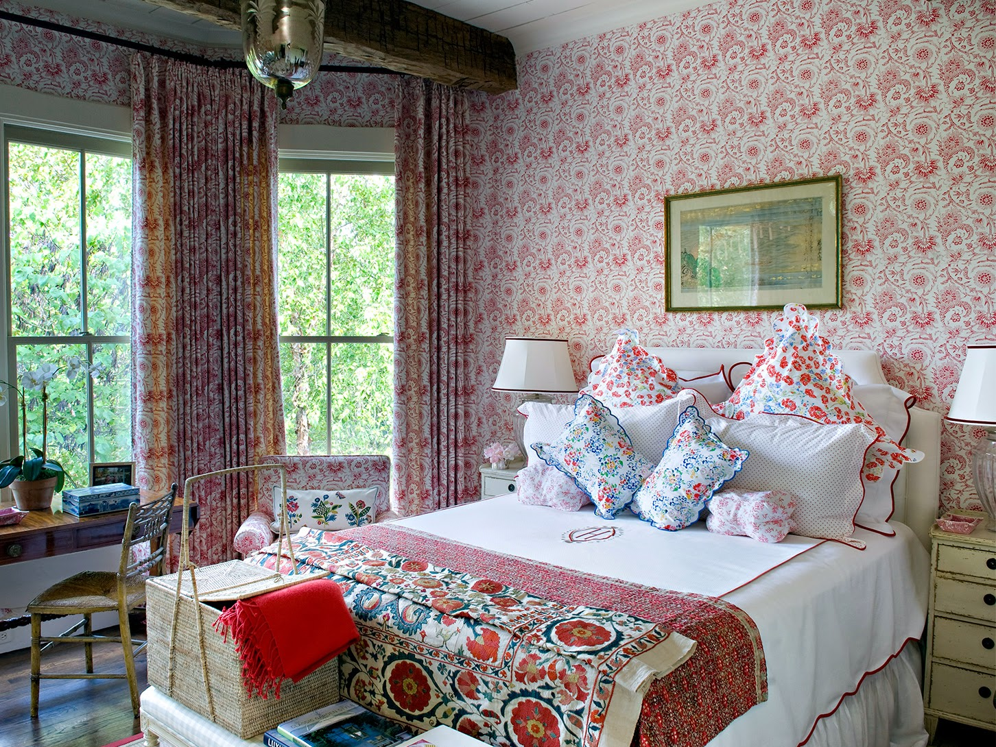 Provence Style Bedroom In Red Interiors By Color