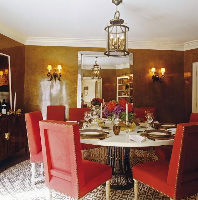 Red and Brown Traditional Dining