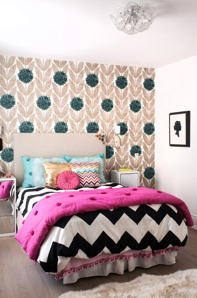 Modern Chevron Bedroom