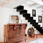 Modern Black Iron Staircase