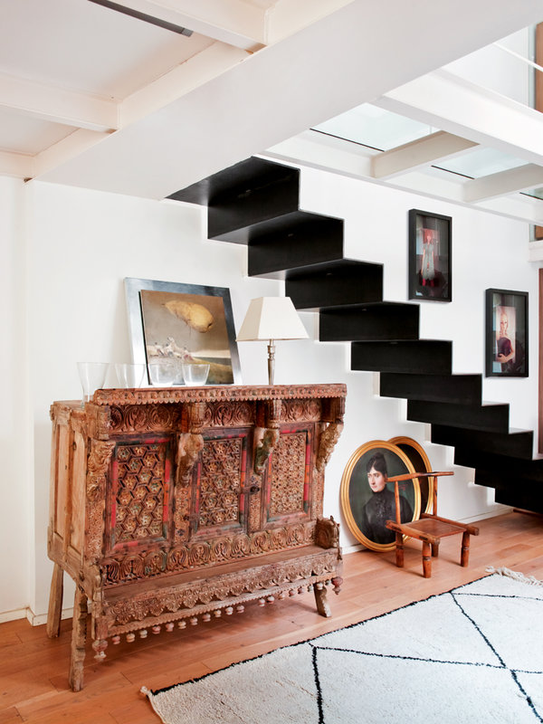 Modern Black Iron Staircase